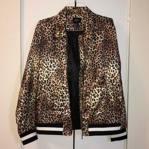 Forever 21 Jackets Coats Menswomens F21 Savage Leopard Satin